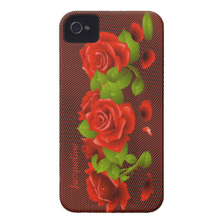 Flower Red Roses iPhone 4 Case
