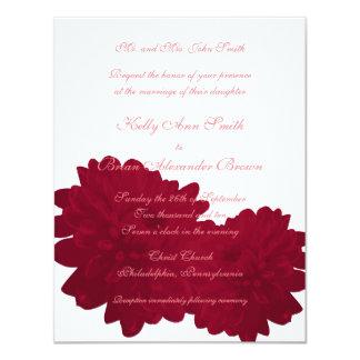 Flower (Red) Small Rectangular Invitation