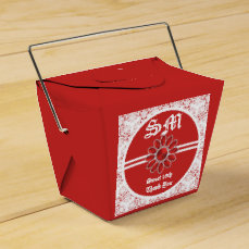 Flower Red Sweet 16th Take Out Favor Bag 1 Favor Box