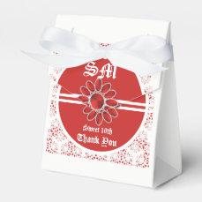Flower Red Sweet 16th Tent Favor Bag 2 Favor Box