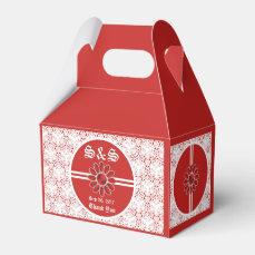 Flower Red Wedding Gable Favor Bag 1 Favor Box