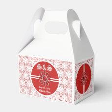 Flower Red Wedding Gable Favor Bag 2 Favor Box
