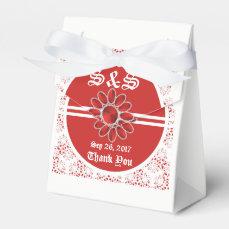 Flower Red Wedding Tent Favor Bag 2 Favor Box