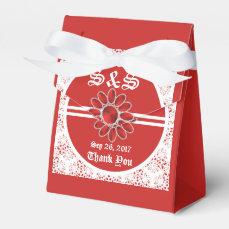 Flower Red Wedding Tent Favor Bag Favor Box