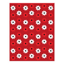Flower Red White Baby Scrapbook Paper