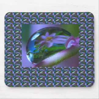 Flower REFLECTION on a DEW DROP .  lowprice GIFTS Mouse Pad