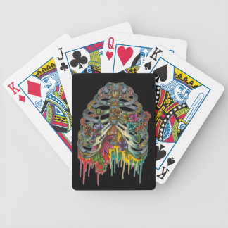 Flower Rib Cage Bicycle Playing Cards