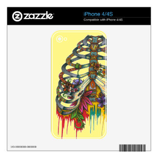 Flower Rib Cage Skin For The iPhone 4S