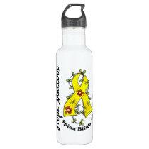 Flower Ribbon 1.4 Spina Bifida Stainless Steel Water Bottle
