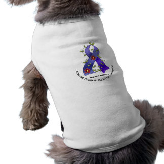 Flower Ribbon 1 CFS Chronic Fatigue Syndrome Doggie T Shirt