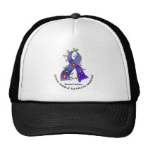 Flower Ribbon 1 CFS Chronic Fatigue Syndrome Trucker Hat
