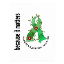 Flower Ribbon 3 Tourette's Syndrome Postcard