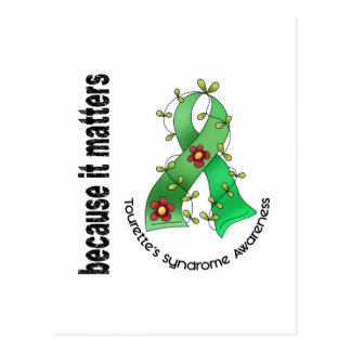 Flower Ribbon 3 Tourette's Syndrome Postcard