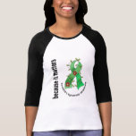 Flower Ribbon 3 Tourette's Syndrome T-shirt
