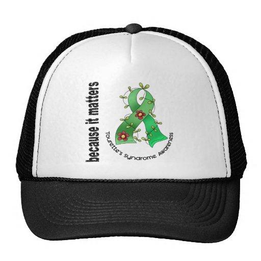 Flower Ribbon 3 Tourette's Syndrome Trucker Hat