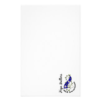 Flower Ribbon 4 Hope Matters ALS Personalized Stationery