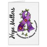 Flower Ribbon 4 Hope Matters Alzheimer's Disease Card