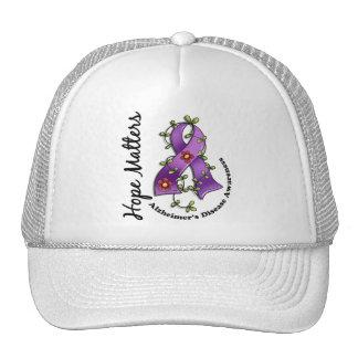 Flower Ribbon 4 Hope Matters Alzheimer's Disease Trucker Hat