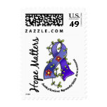 Flower Ribbon 4 Hope Matters Ankylosing Spondyliti Postage Stamps