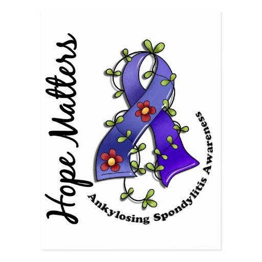 Flower Ribbon 4 Hope Matters Ankylosing Spondyliti Postcard