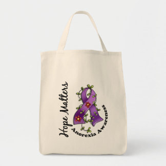 Flower Ribbon 4 Hope Matters Anorexia Bags