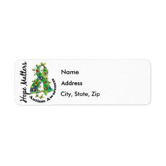 Flower Ribbon 4 Hope Matters Autism Label