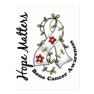 Flower Ribbon 4 Hope Matters Bone Cancer Postcard