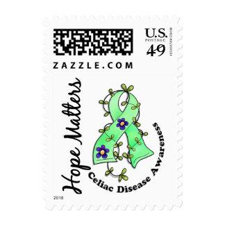 Flower Ribbon 4 Hope Matters Celiac Disease Stamp