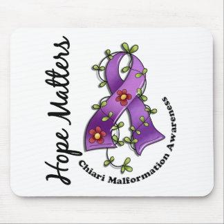 Flower Ribbon 4 Hope Matters Chiari Malformation Mouse Pad