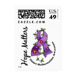 Flower Ribbon 4 Hope Matters Chiari Malformation Postage Stamp