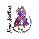 Flower Ribbon 4 Hope Matters Crohn's Disease Post Card