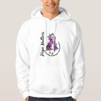 Flower Ribbon 4 Hope Matters Cystic Fibrosis Hooded Pullovers