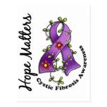 Flower Ribbon 4 Hope Matters Cystic Fibrosis Postcard