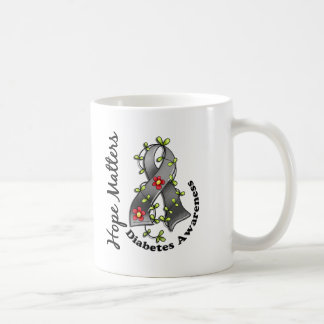 Flower Ribbon 4 Hope Matters Diabetes Classic White Coffee Mug