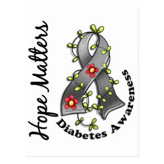 Flower Ribbon 4 Hope Matters Diabetes Postcard