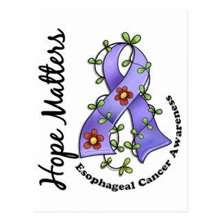 Flower Ribbon 4 Hope Matters Esophageal Cancer Postcard