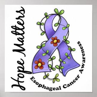 Flower Ribbon 4 Hope Matters Esophageal Cancer Poster