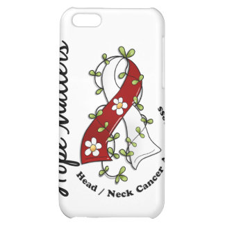 Flower Ribbon 4 Hope Matters Head Neck Cancer iPhone 5C Cases