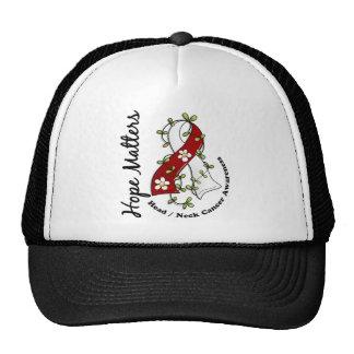 Flower Ribbon 4 Hope Matters Head Neck Cancer Trucker Hat
