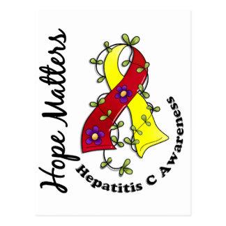 Flower Ribbon 4 Hope Matters Hepatitis C Postcard