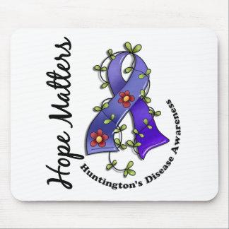 Flower Ribbon 4 Hope Matters Huntington's Disease Mouse Pad