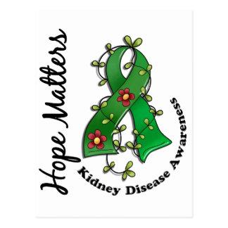 Flower Ribbon 4 Hope Matters Kidney Disease Postcard
