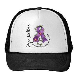 Flower Ribbon 4 Hope Matters Leiomyosarcoma Trucker Hat