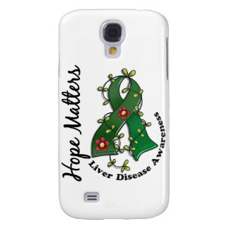Flower Ribbon 4 Hope Matters Liver Disease Galaxy S4 Cases