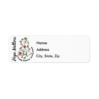 Flower Ribbon 4 Hope Matters Lung Cancer Label