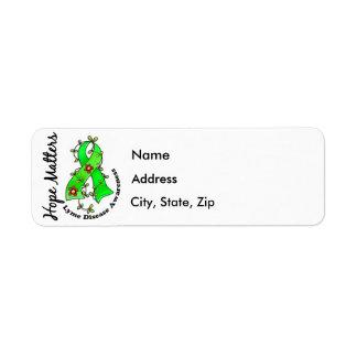 Flower Ribbon 4 Hope Matters Lyme Disease Label
