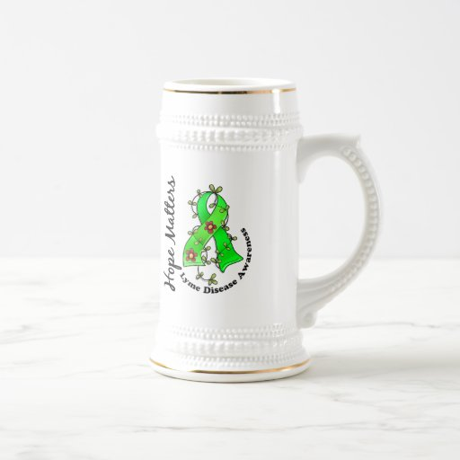 Flower Ribbon 4 Hope Matters Lyme Disease Mug