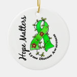 Flower Ribbon 4 Hope Matters Lyme Disease Christmas Tree Ornaments