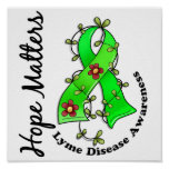 Flower Ribbon 4 Hope Matters Lyme Disease Posters