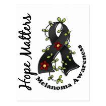 Flower Ribbon 4 Hope Matters Melanoma Postcard